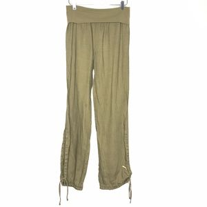 VTG Puma Green Ankle Tie Pants A110560